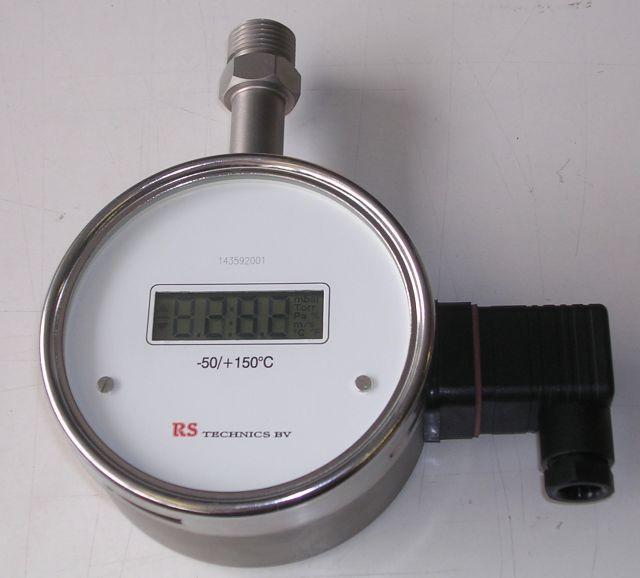 PT100 sensor met ingebouwde uitgebouwde uitlezing